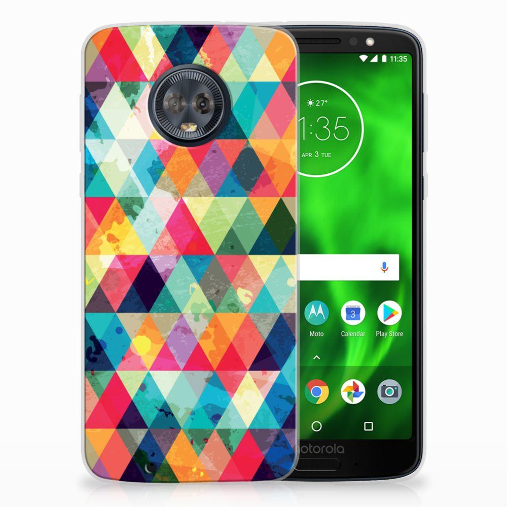 Motorola Moto G6 Uniek TPU Hoesje Geruit