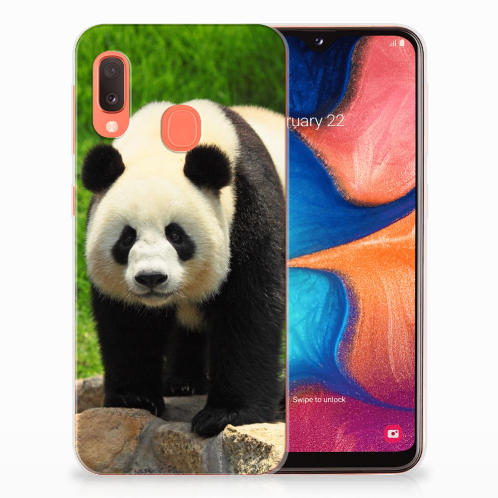 Samsung Galaxy A20e TPU Hoesje Panda