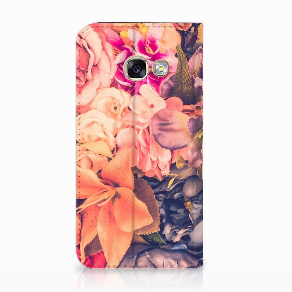 Samsung Galaxy A3 2017 Standcase Hoesje Design Bosje Bloemen