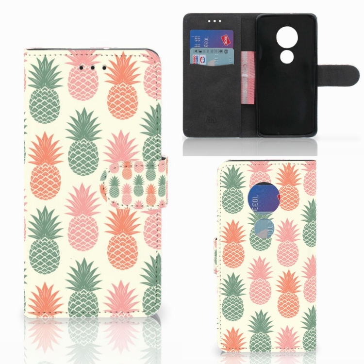 Motorola Moto G7 Play Book Cover Ananas