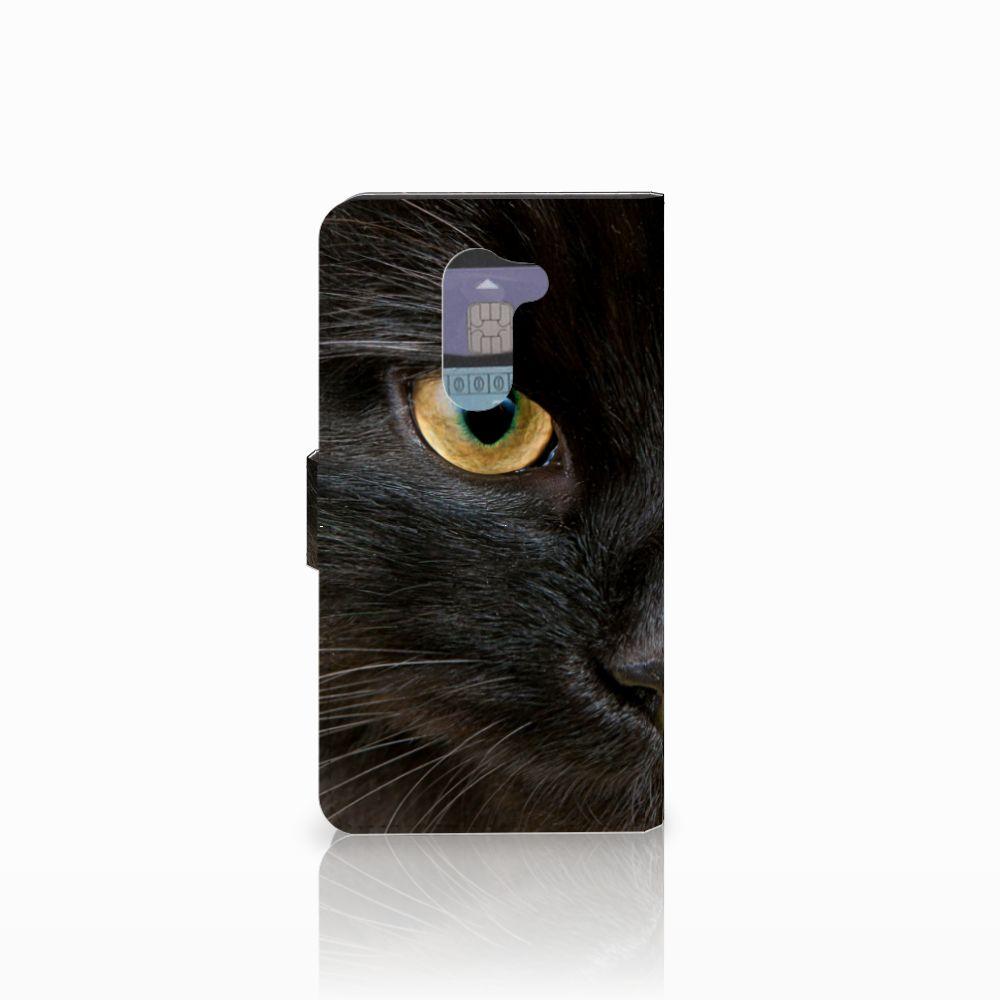 Huawei Honor 6X Telefoonhoesje met Pasjes Zwarte Kat