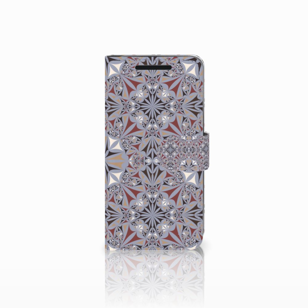 HTC One M9 Bookcase Flower Tiles
