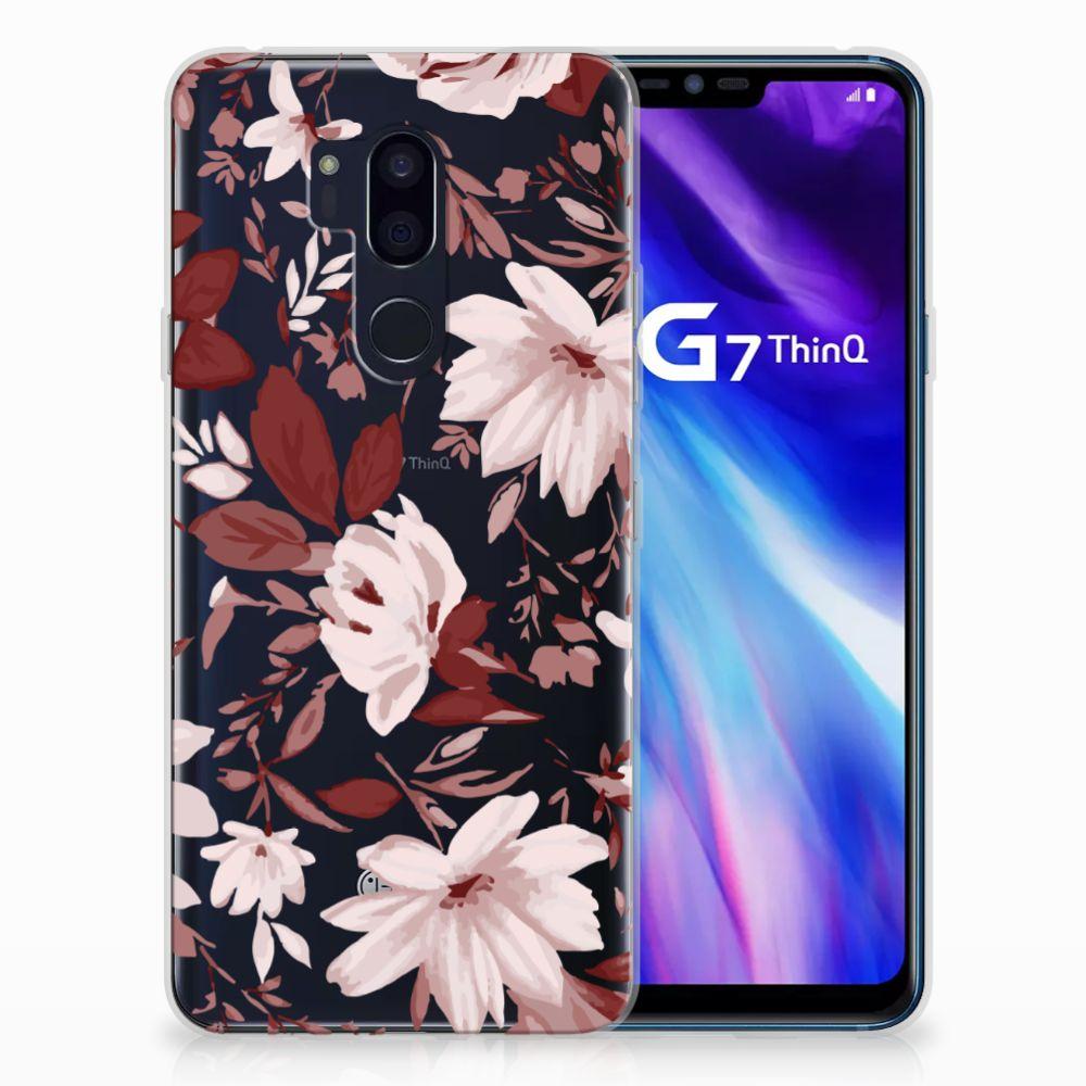LG G7 Thinq Uniek TPU Hoesje Watercolor Flowers