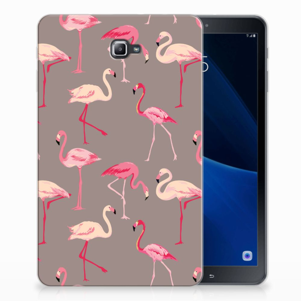 Samsung Galaxy Tab A 10.1 Uniek Tablethoesje Flamingo
