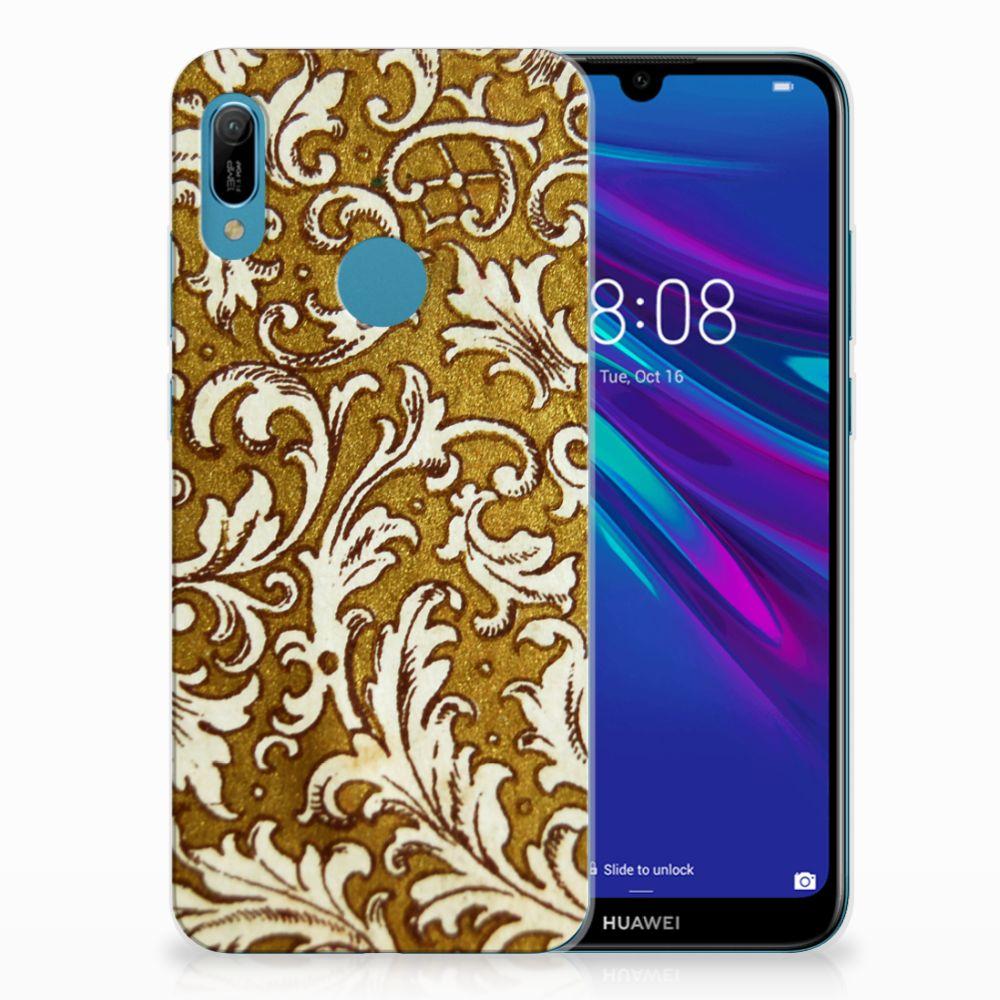 Siliconen Hoesje Huawei Y6 2019 | Y6 Pro 2019 Barok Goud