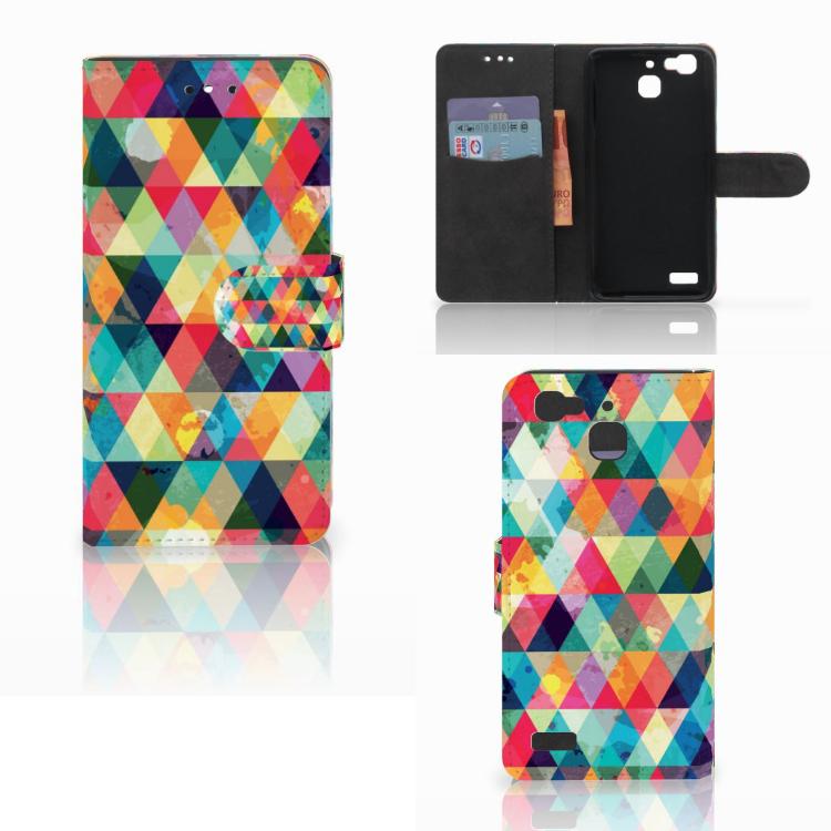 Huawei P8 Lite Smart (GR3) Telefoon Hoesje Geruit