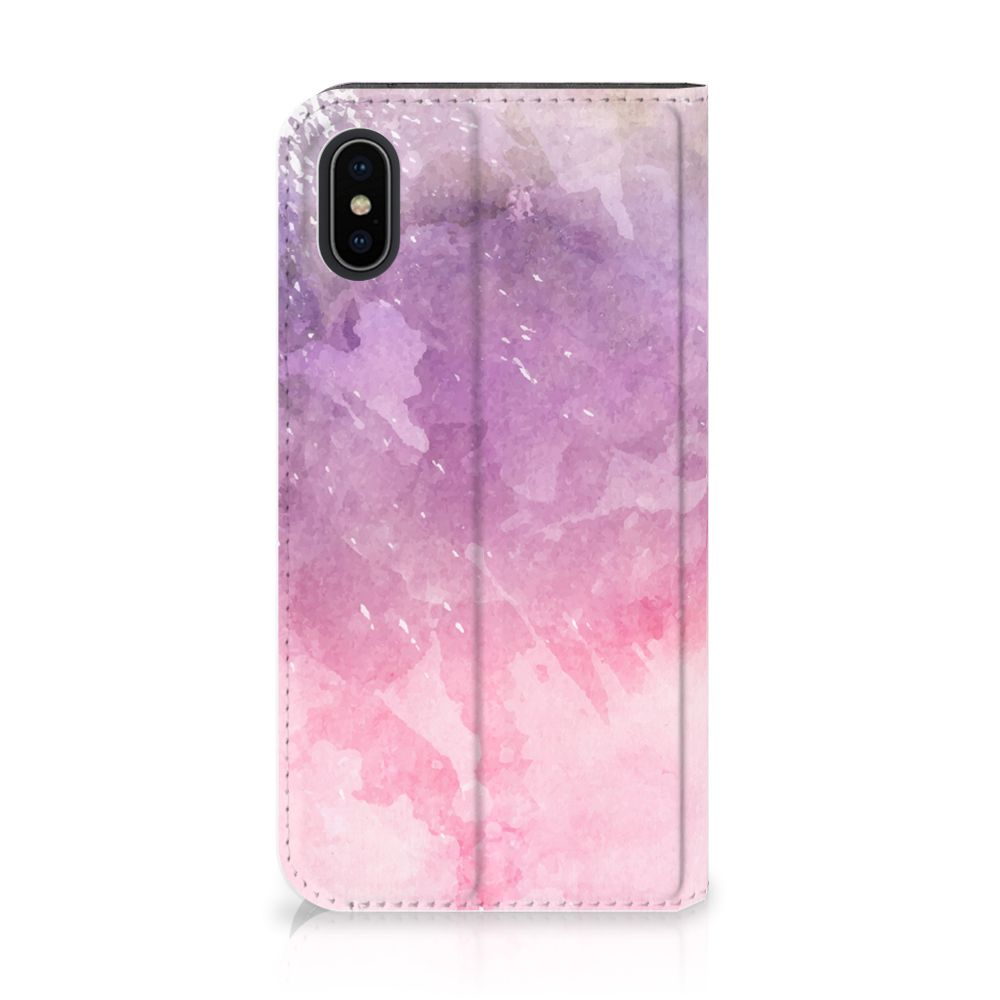 Apple iPhone X | Xs Standcase Hoesje Design Pink Purple Paint