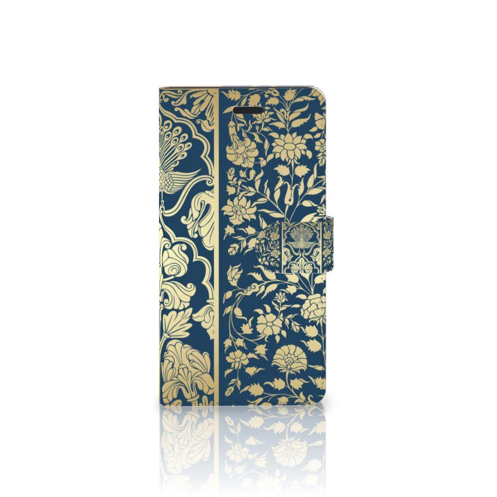 Samsung Galaxy A7 2017 Boekhoesje Golden Flowers