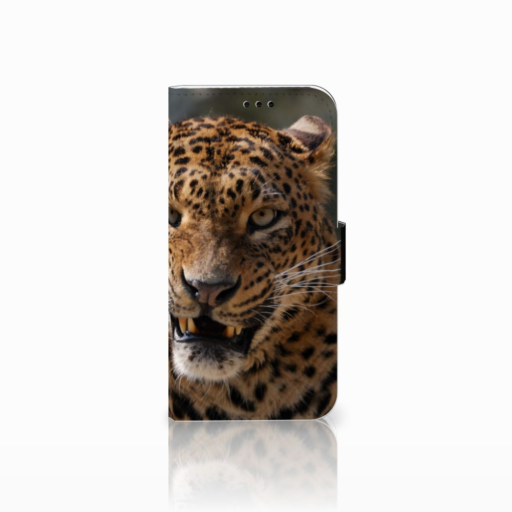 Samsung Galaxy A5 2017 Telefoonhoesje met Pasjes Luipaard