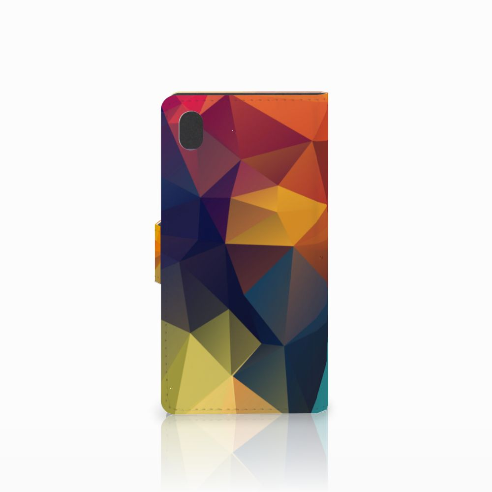 Sony Xperia M4 Aqua Bookcase Polygon Color