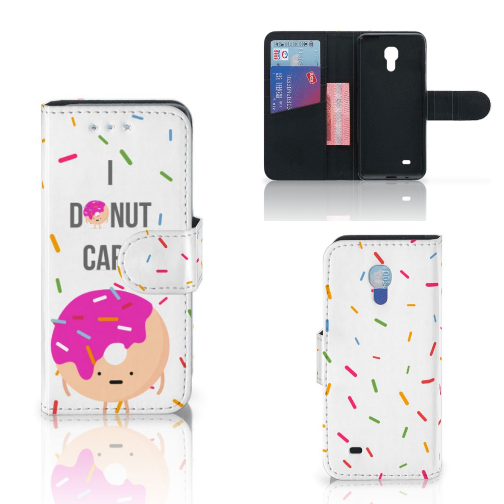 Samsung Galaxy S4 Mini i9190 Book Cover Donut Roze