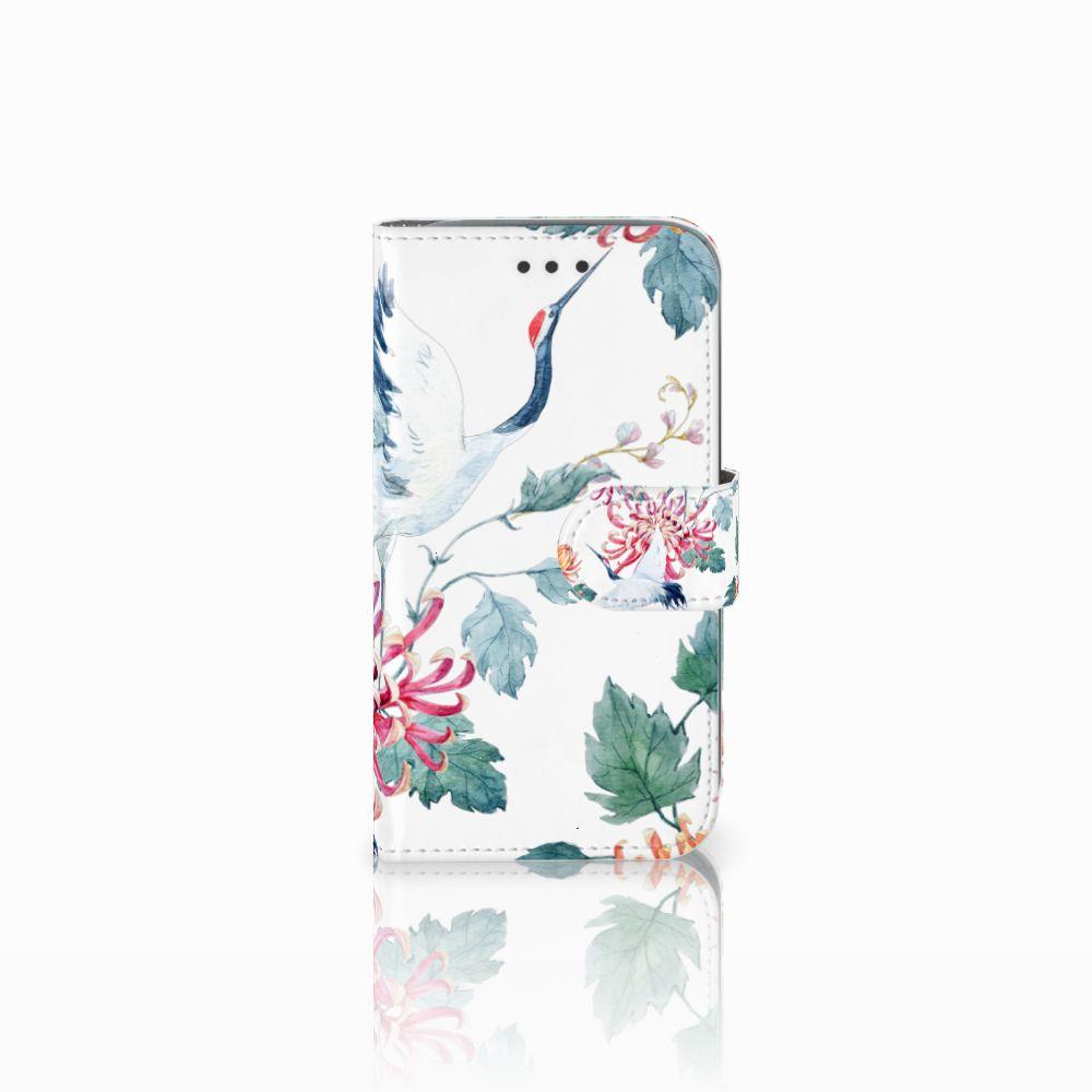 Samsung Galaxy Core Prime Telefoonhoesje met Pasjes Bird Flowers