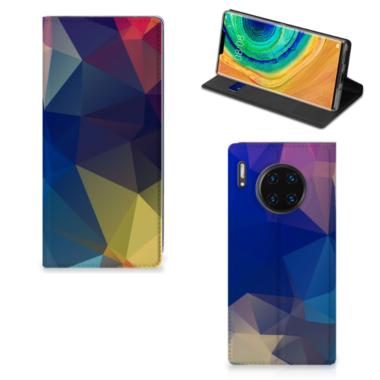 Huawei Mate 30 Pro Stand Case Polygon Dark