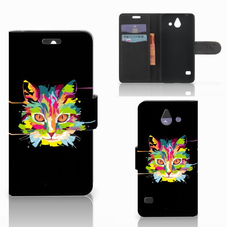 Huawei Ascend Y550 Leuk Hoesje Cat Color