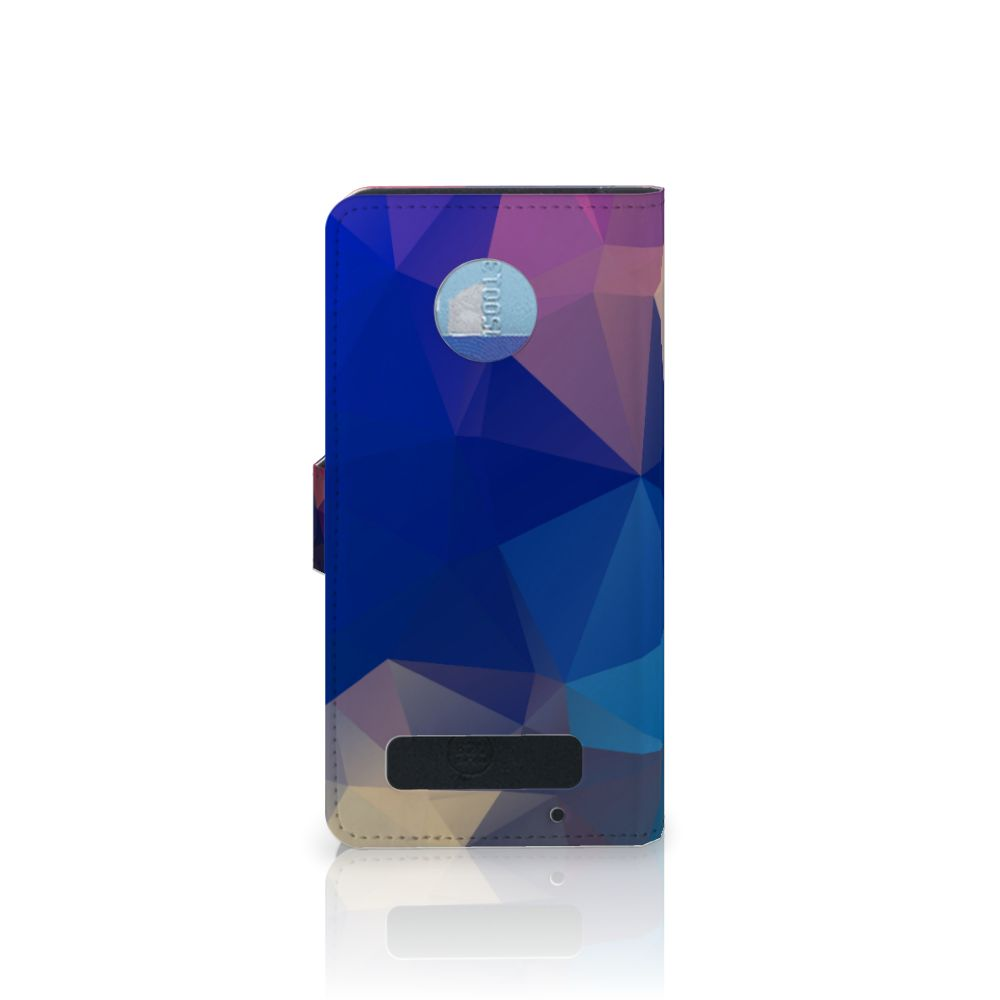 Motorola Moto Z Play Bookcase Polygon Dark