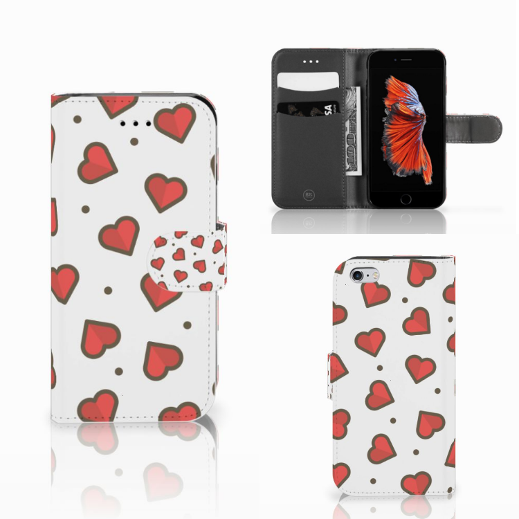 Apple iPhone 6 | 6s Telefoon Hoesje Hearts