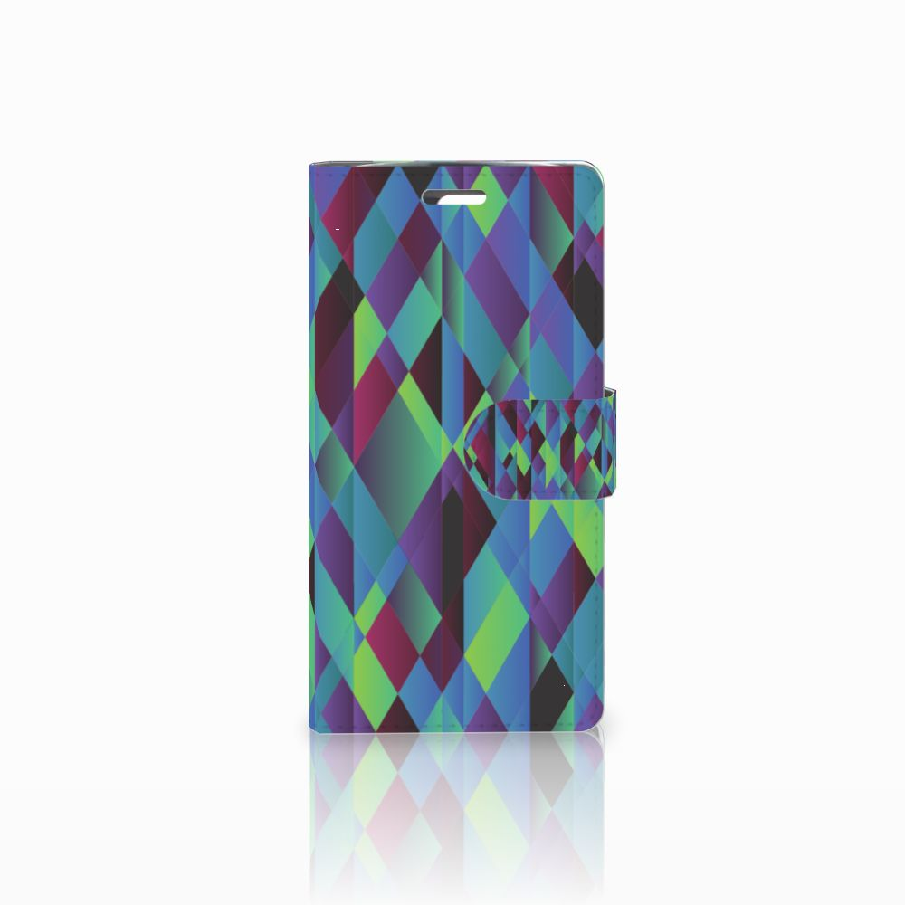 LG K10 2015 Boekhoesje Design Abstract Green Blue