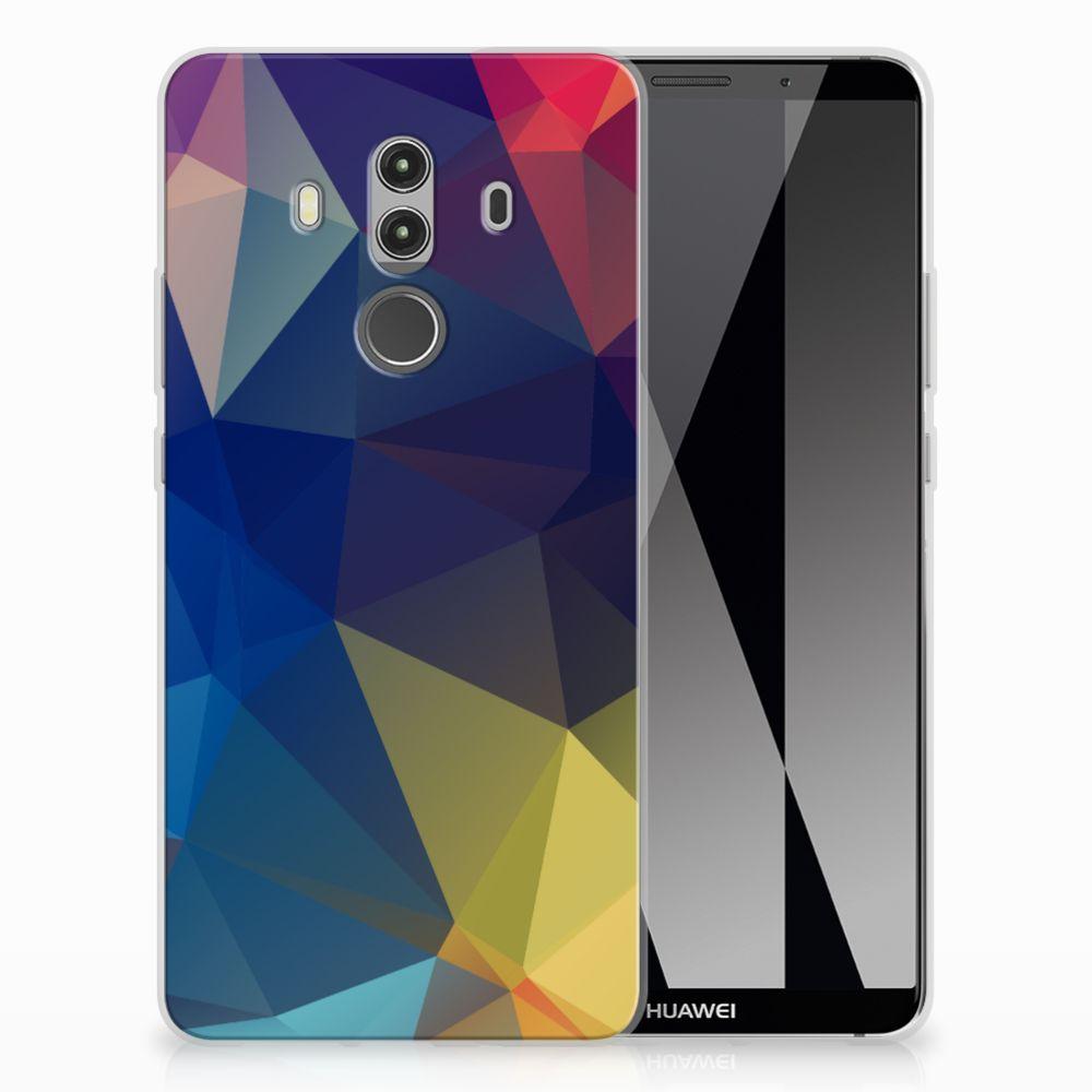 Huawei Mate 10 Pro TPU Hoesje Polygon Dark