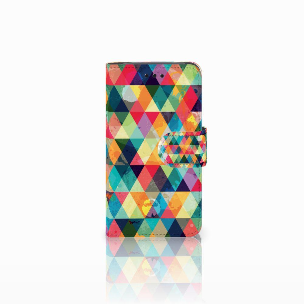 Samsung Galaxy Core i8260 Uniek Boekhoesje Geruit