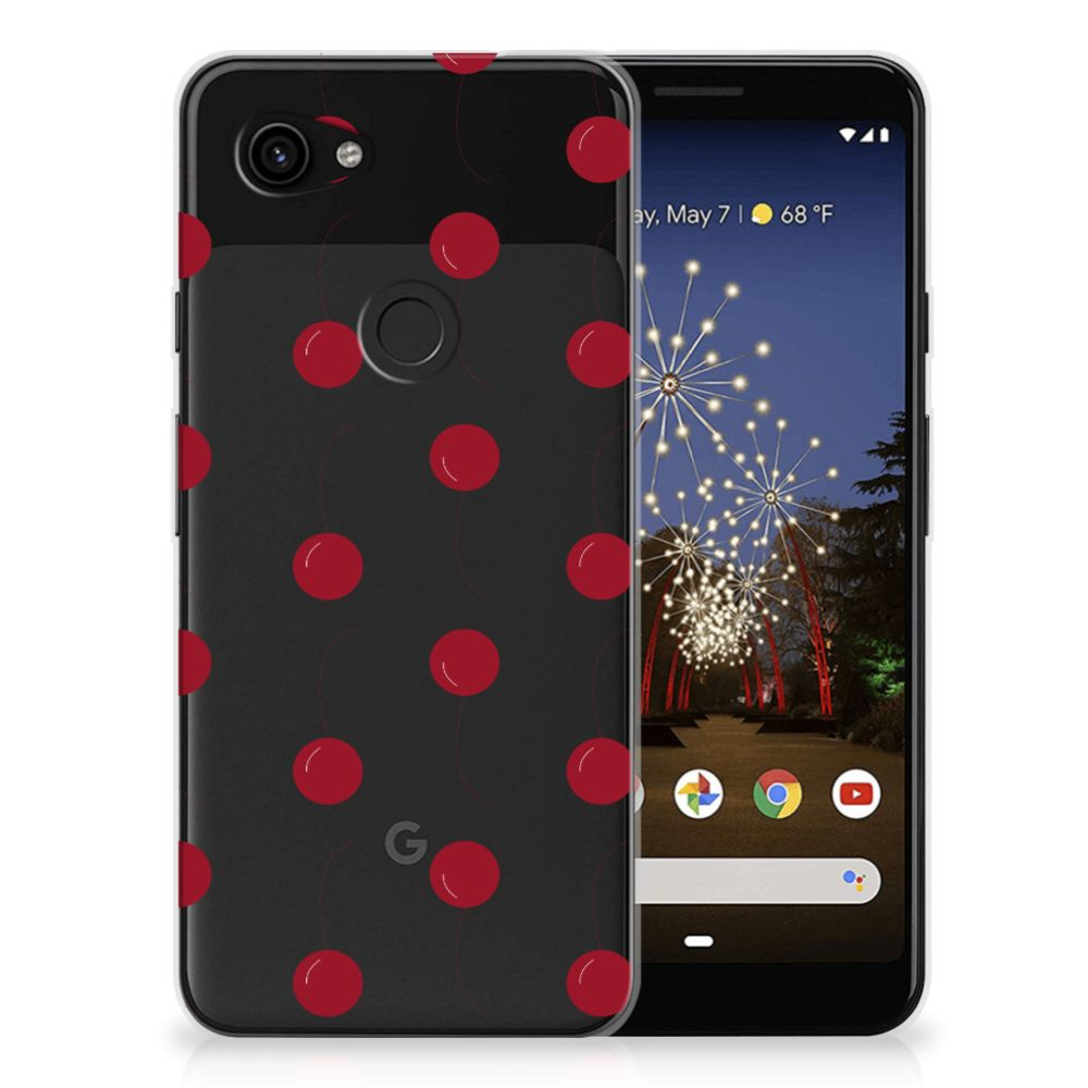 Google Pixel 3A Siliconen Case Cherries