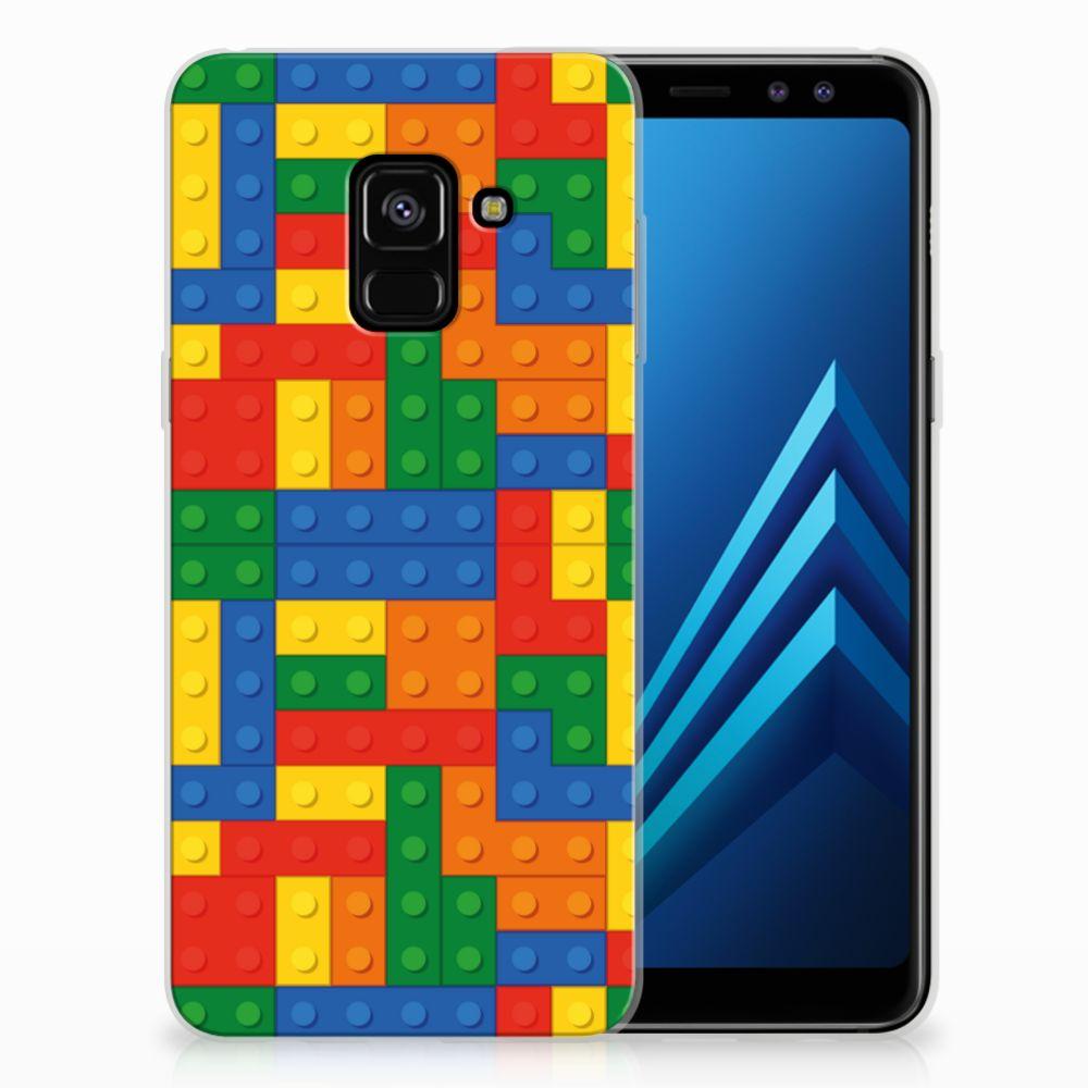 Uniek TPU Hoesje Blokken Samsung Galaxy A8 (2018)