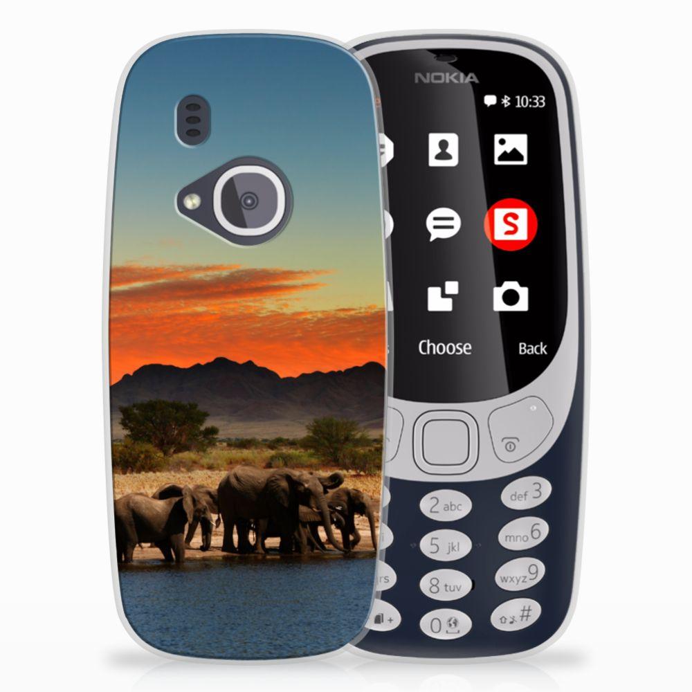 Nokia 3310 (2017) TPU Hoesje Design Olifanten