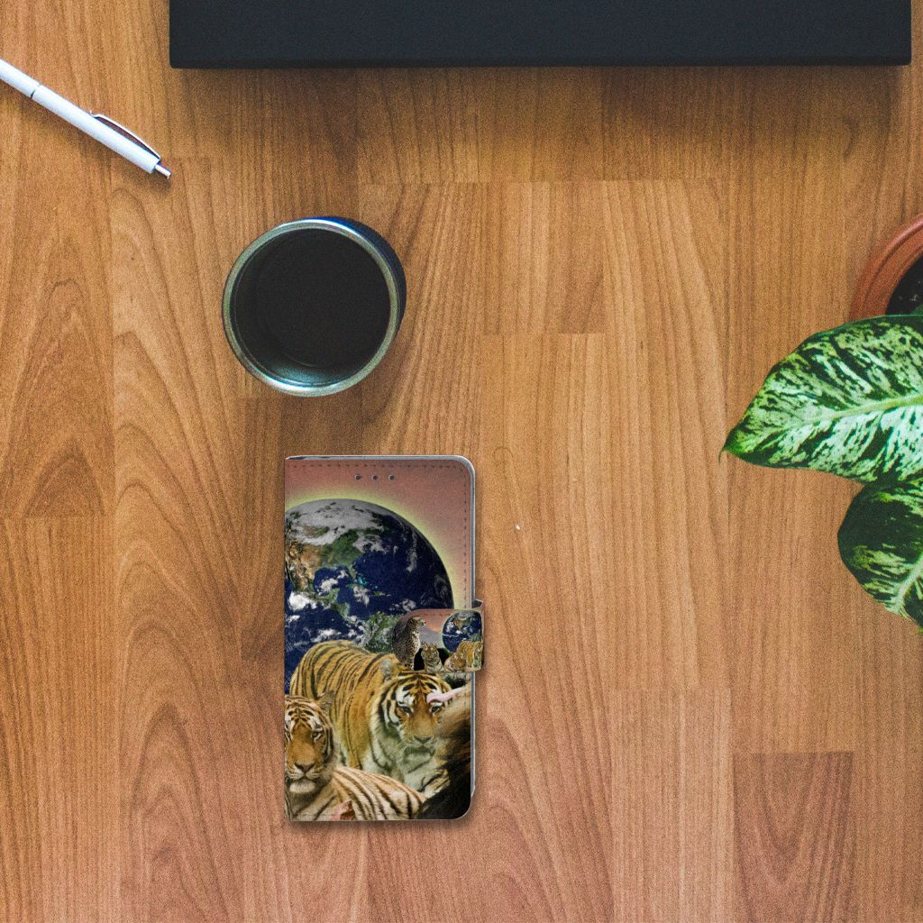 Sony Xperia Z2 Telefoonhoesje met Pasjes Roofdieren