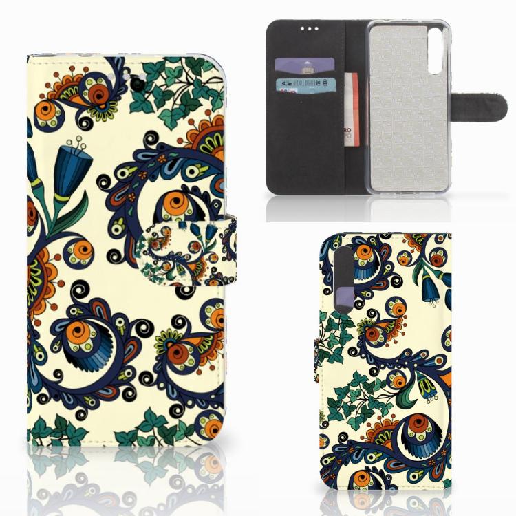 Wallet Case Huawei P20 Pro Barok Flower