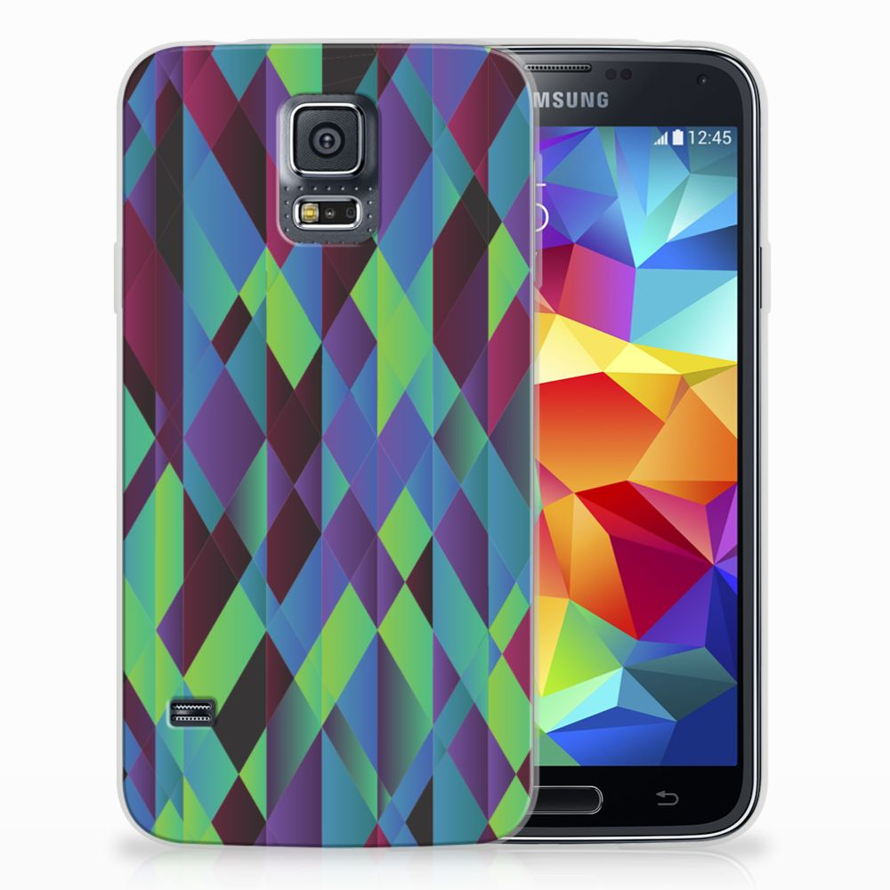 Samsung Galaxy S5 TPU Hoesje Abstract Green Blue