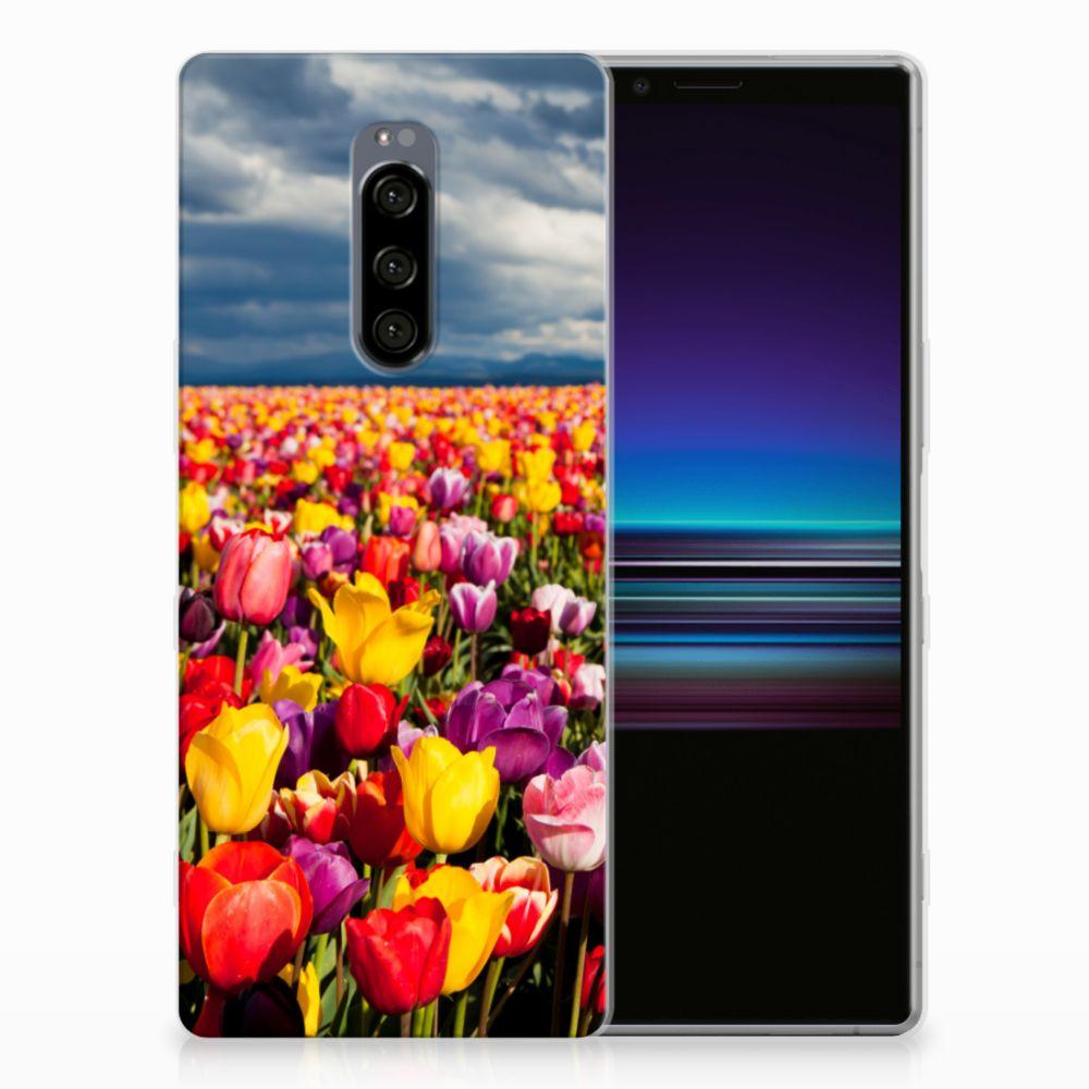 Sony Xperia 1 Uniek TPU Hoesje Tulpen