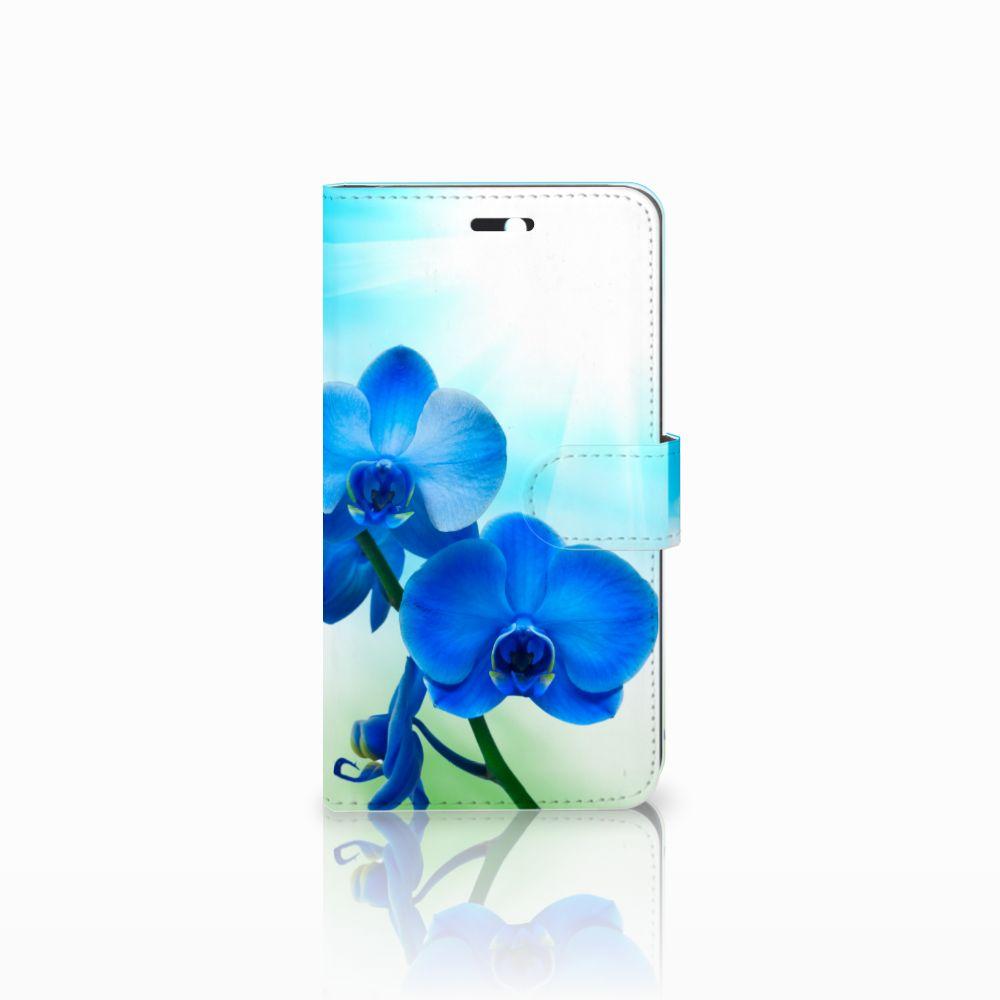 Huawei Y6 II | Honor 5A Boekhoesje Design Orchidee Blauw