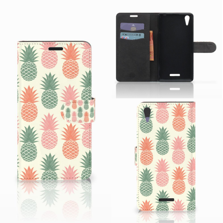 Sony Xperia T3 Book Cover Ananas