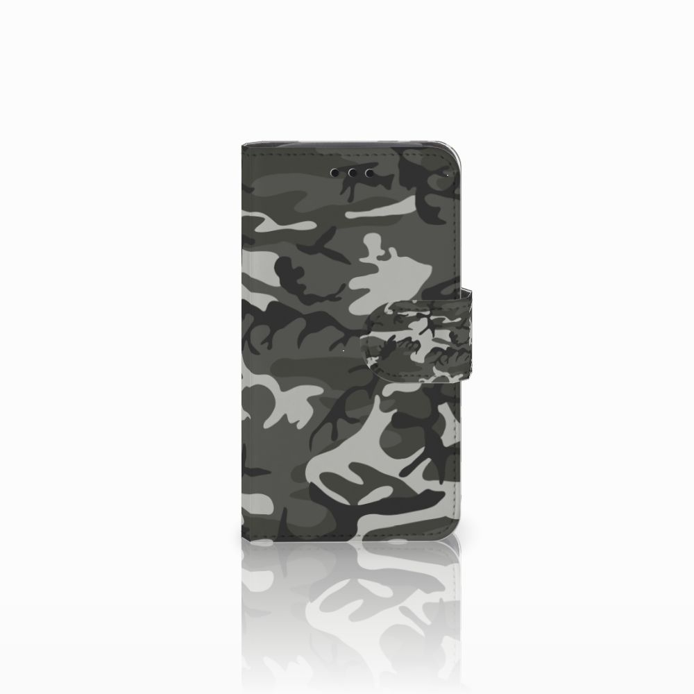 Samsung Galaxy Core i8260 Uniek Boekhoesje Army Light