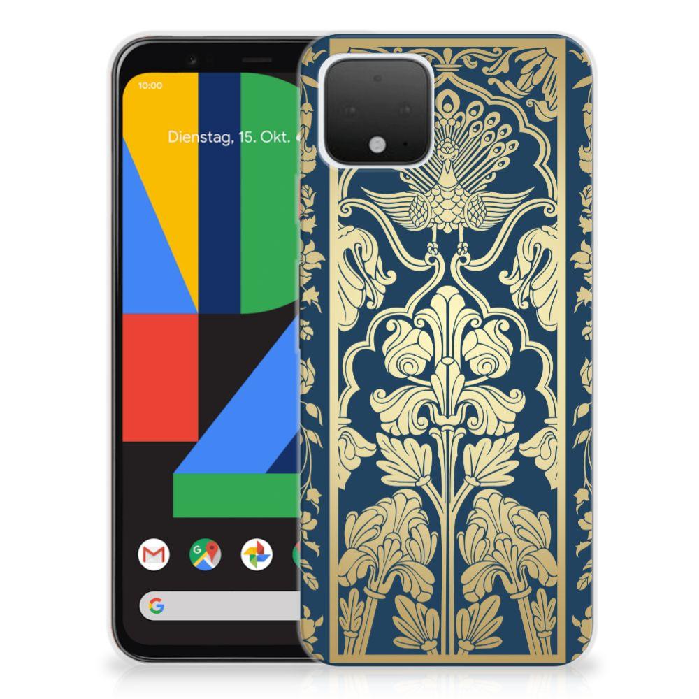 Google Pixel 4 TPU Case Golden Flowers