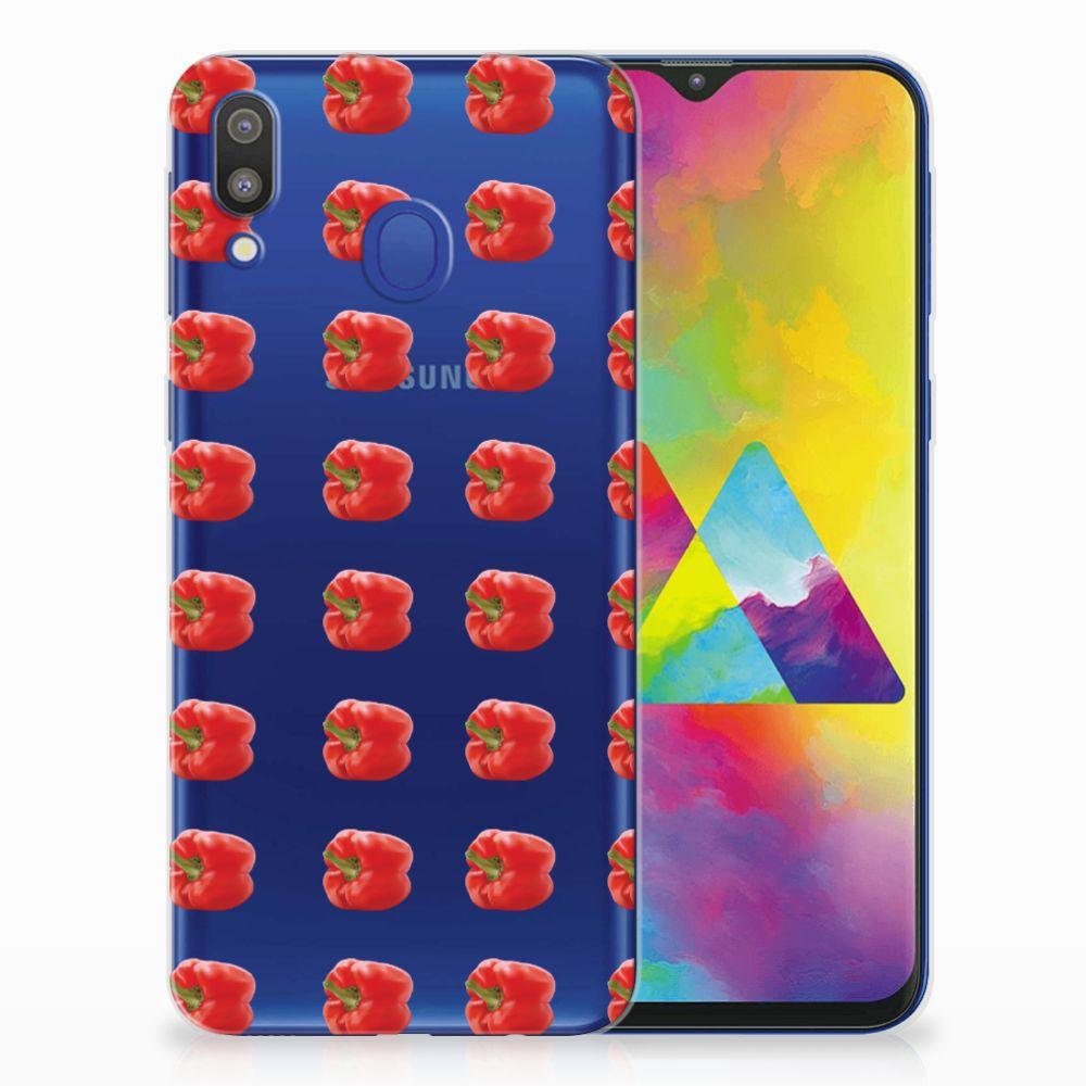 Samsung Galaxy M20 (Power) Siliconen Case Paprika Red