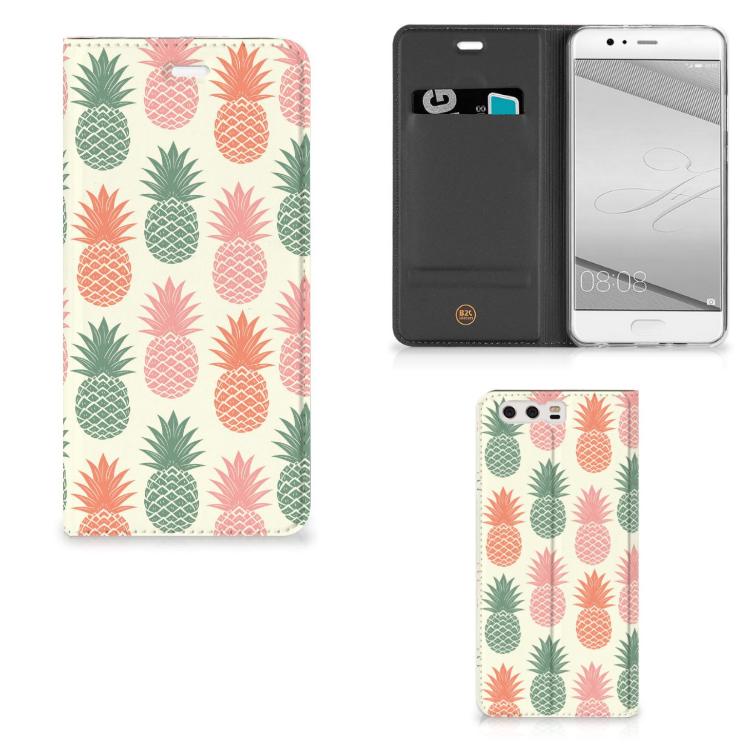 Huawei P10 Plus Flip Style Cover Ananas