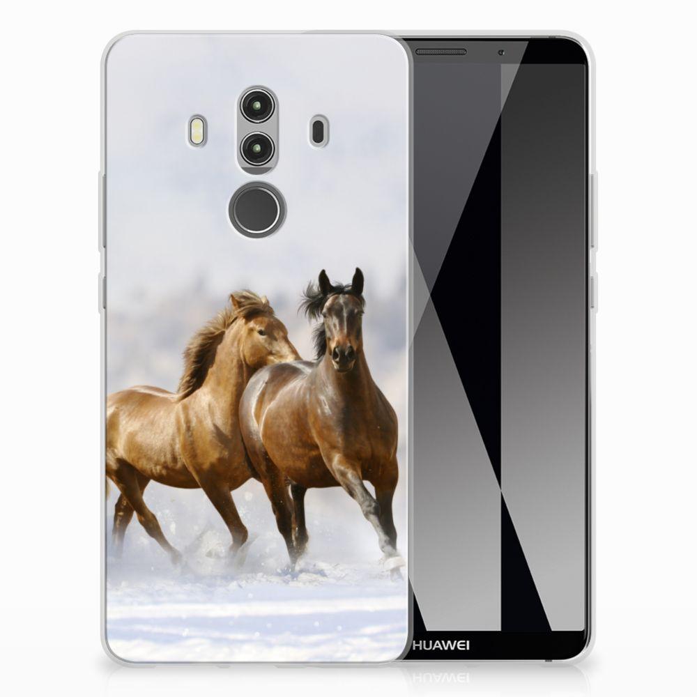Huawei Mate 10 Pro Uniek TPU Hoesje Paarden