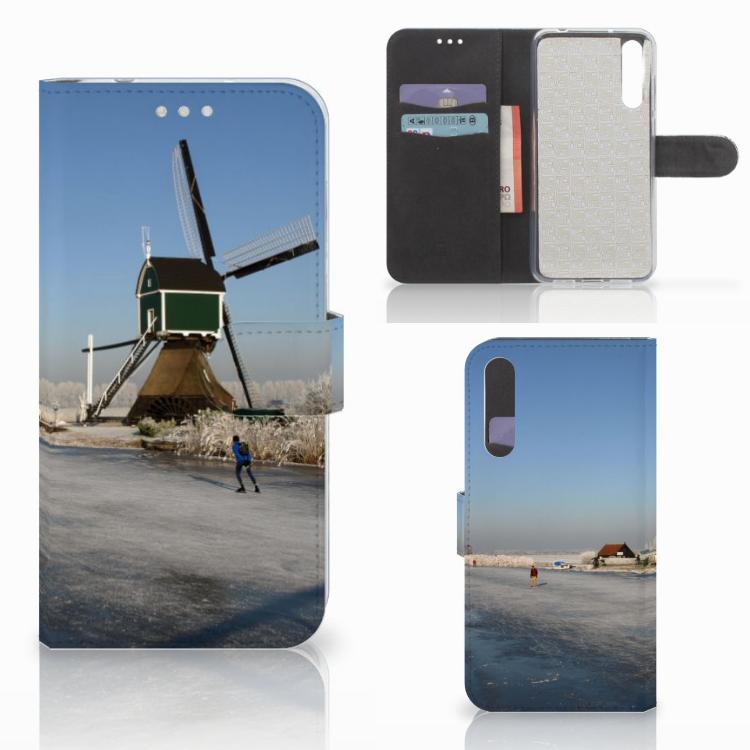 Huawei P20 Pro Flip Cover Schaatsers