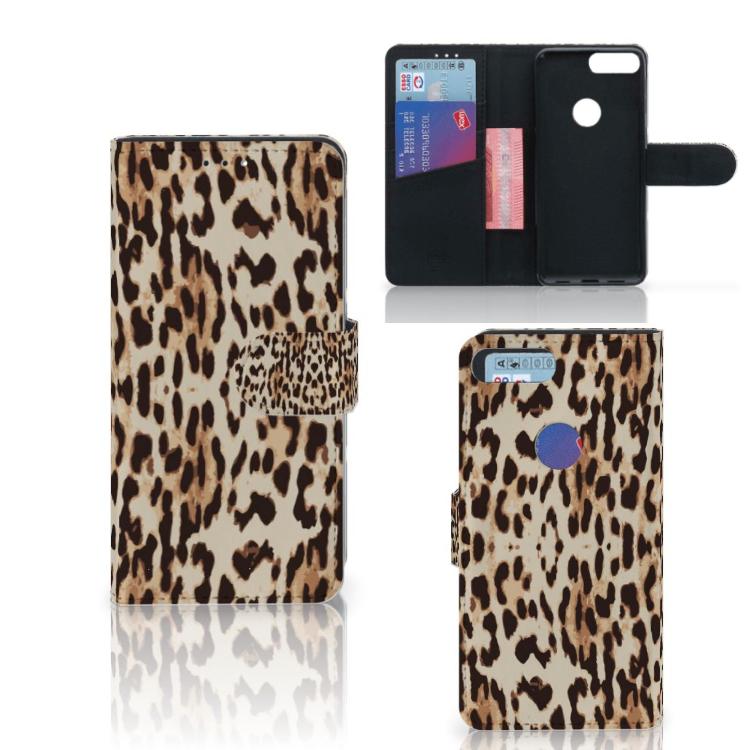 Alcatel 1S (2019) Telefoonhoesje met Pasjes Leopard