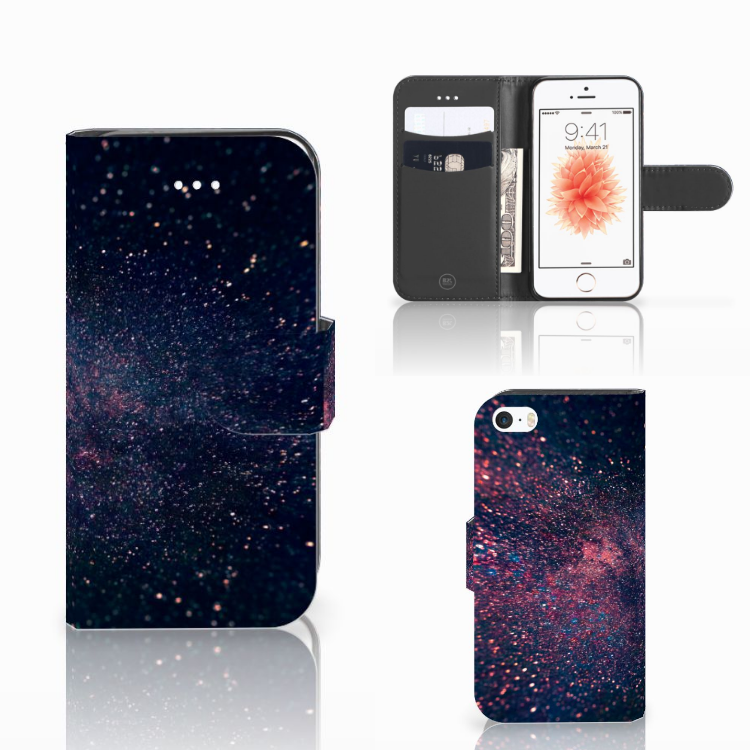 Apple iPhone 5 | 5s | SE Bookcase Stars