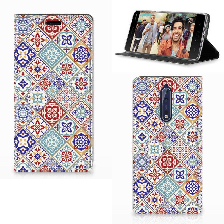 Nokia 8 Standcase Tiles Color