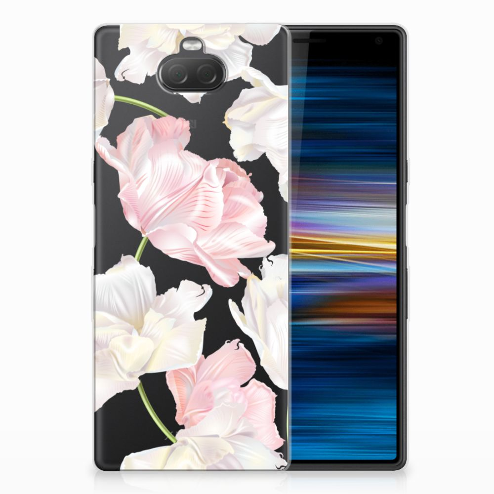 Sony Xperia 10 TPU Hoesje Design Lovely Flowers