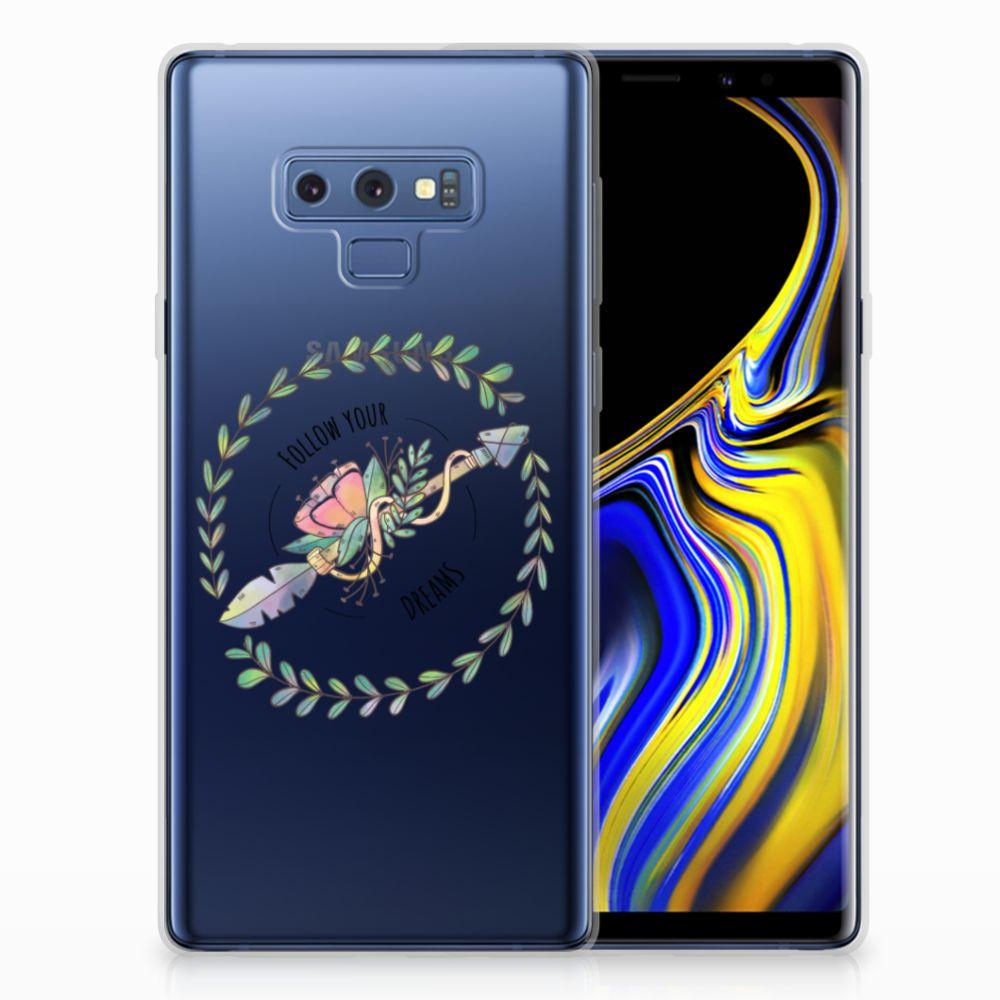 Samsung Galaxy Note 9 Telefoonhoesje met Naam Boho Dreams