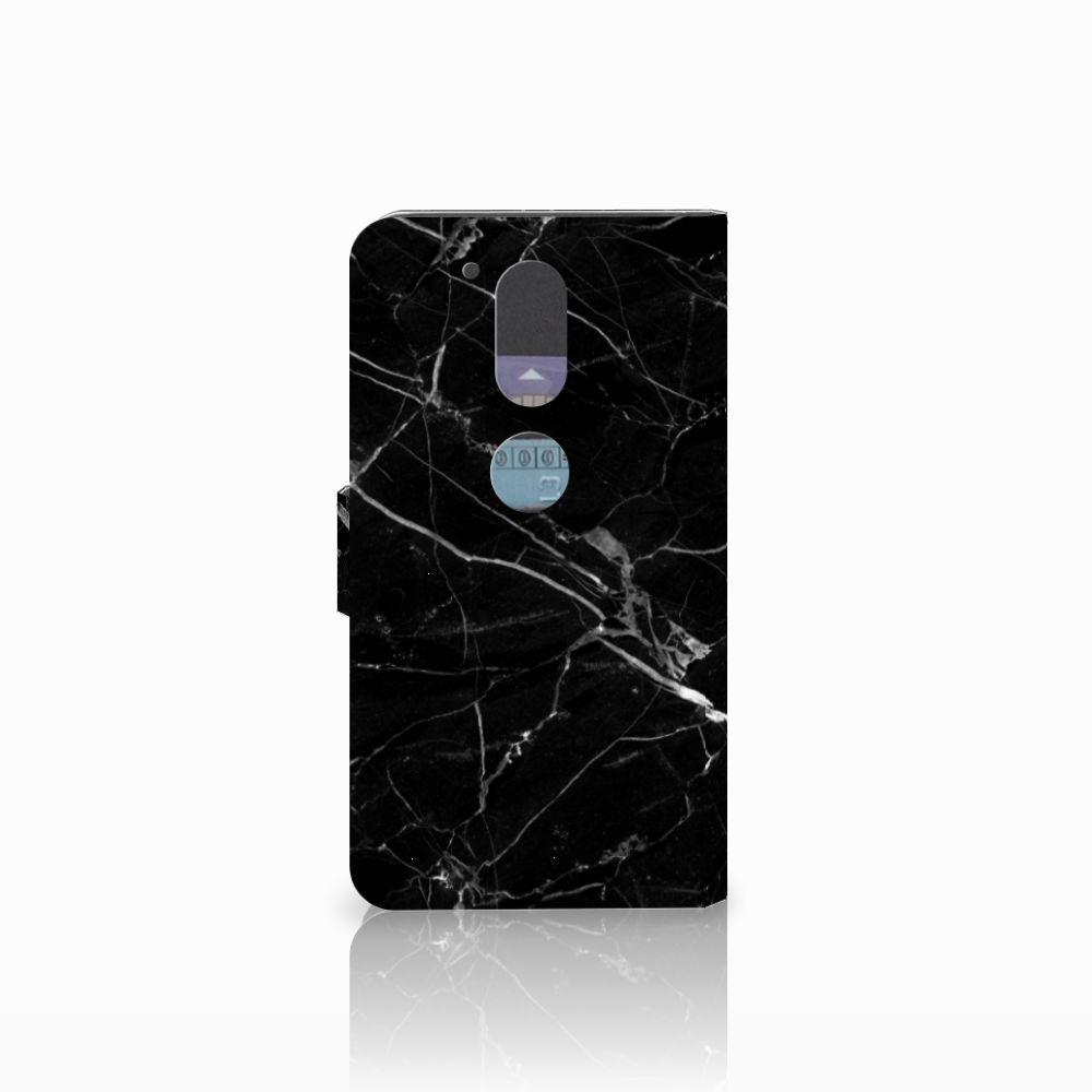 Motorola Moto G4   G4 Plus Bookcase Marmer Zwart