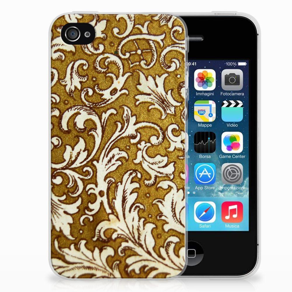 Siliconen Hoesje Apple iPhone 4 | 4s Barok Goud