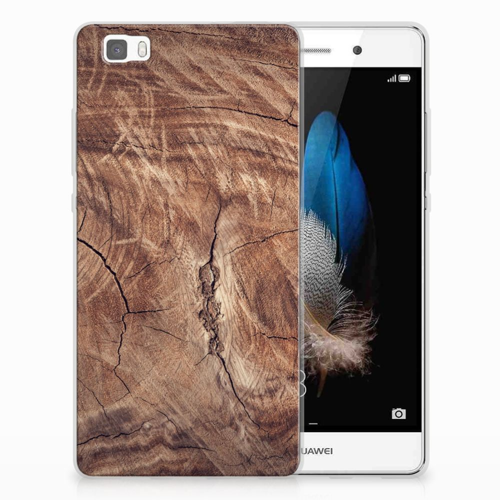 Huawei Ascend P8 Lite TPU Hoesje Design Tree Trunk
