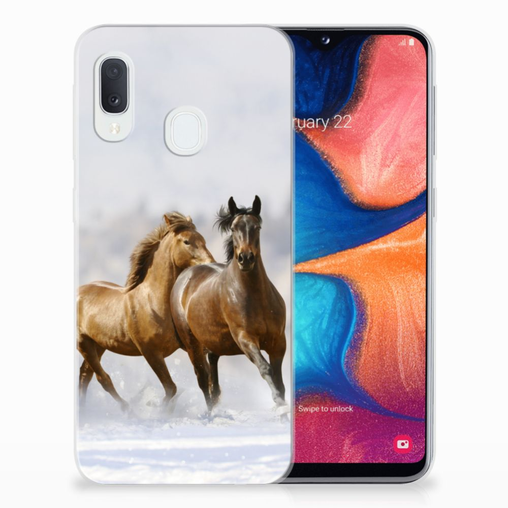 Samsung Galaxy A20e TPU Hoesje Paarden