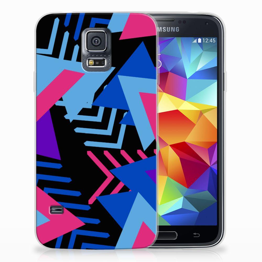 Samsung Galaxy S5 TPU Hoesje Funky Triangle