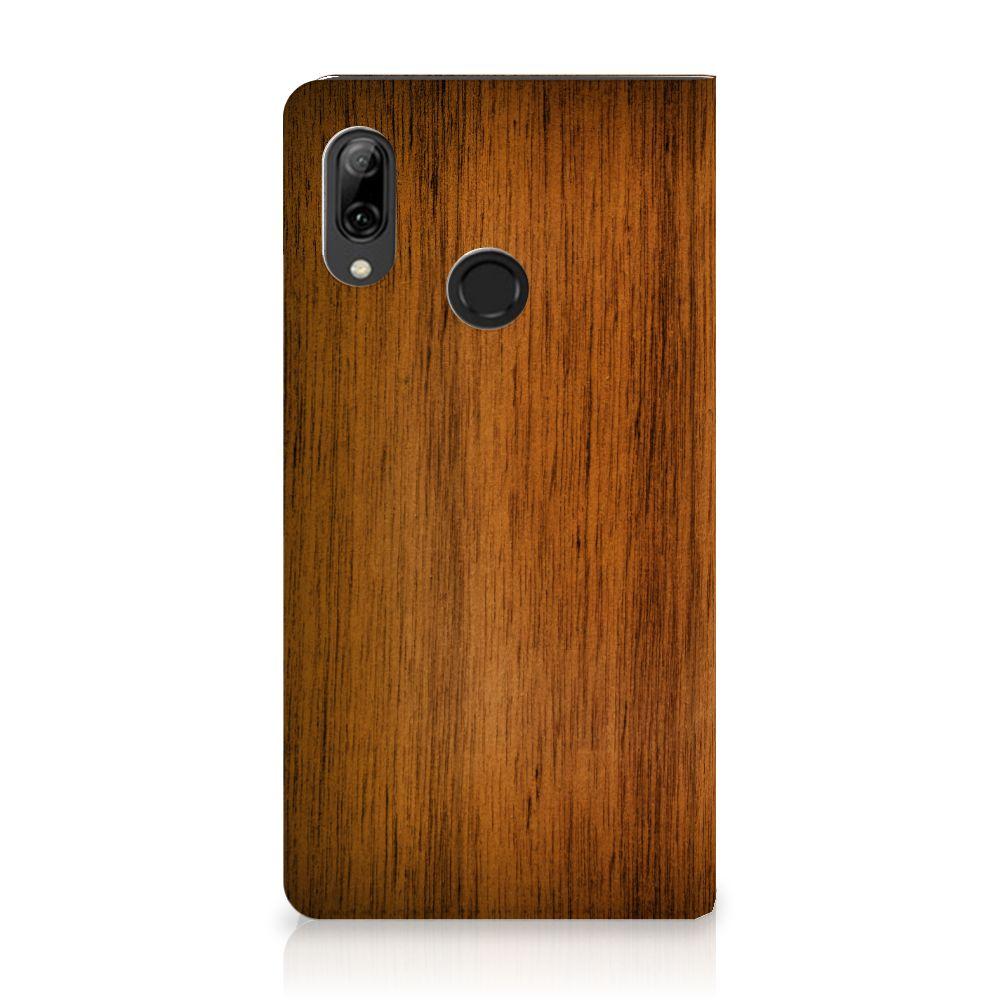 Huawei P Smart (2019) Uniek Standcase Hoesje Donker Hout