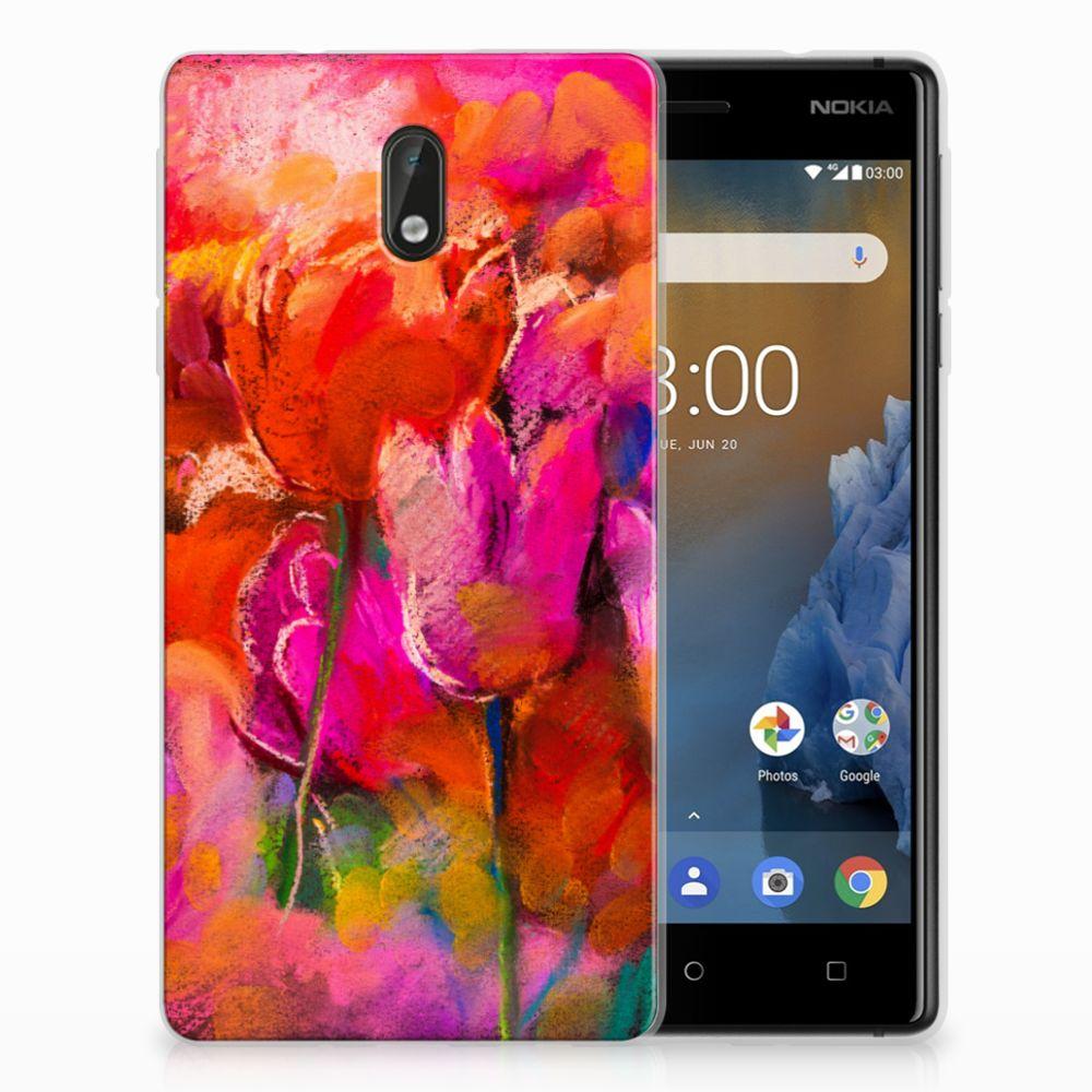 Nokia 3 TPU Hoesje Design Tulips